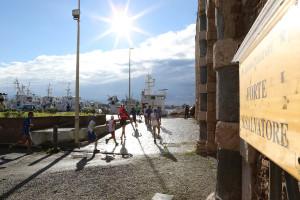 Un gran sole ha accompagnato gli atleti (foto Fazio-Denaro)