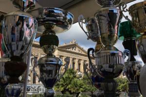 I trofei della Messina Marathon (foto Fazio-Denaro)