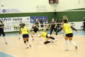 Messina Volley - Planet Catania, una fase della gara.