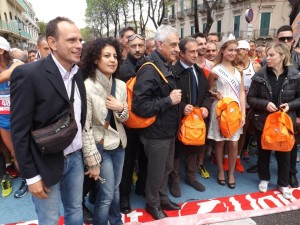 Aliberti alla partenza della Messina Marathon