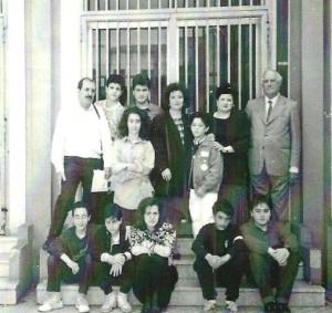 """La prima redazione di """"Noi Ragazzi"""" con a sinistra il prof. Corrao e a destra il preside Schirò"""