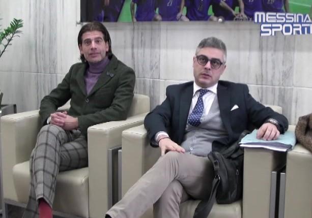 Gli avvocati Ignazio Leo e Giovanni Villari nei locali della FIGC in via Campania