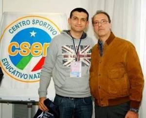Alessandro D'Ignoti con il il presidente Nazionale del CSEN Francesco Proietti