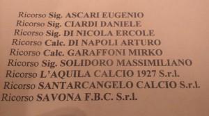 L'elenco dei ricorsi presentati dagli imputati