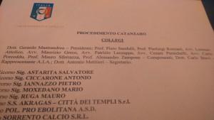 La composizione del collegio e l'elenco dei ricorrenti