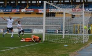 Il gol dell'1-1 di Burzigotti