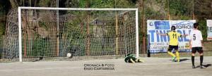 Cristian Adamo segna il gol dello 0-1