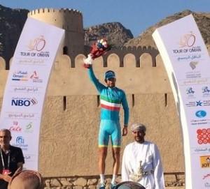 Nibali sul podio del Tour of Oman