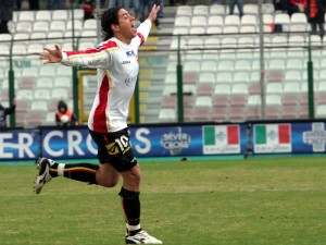 Nicholas Cordova, in gol a Catania nel 2006