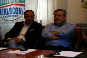 Massimo Romagnoli in una convention politica a Capo D'Orlando