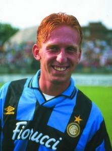 Mirko Conte con la maglia dell'Inter