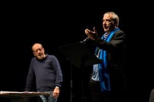 Dario Vergassola e David Riondino in scena