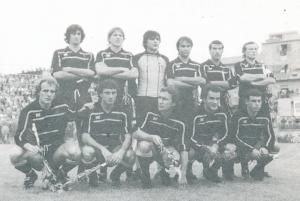 Una formazione del Messina, stagione 1983-84