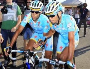 la coppia Astana Nibali e Agnoli