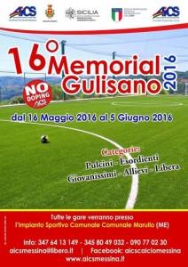Locandina 16° MEMORIAL GULISANO