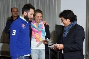 Francesco Catanoso con Patrizia Samiani ritira la targa ricordo di questa fantastica stagione