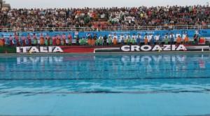 Le squadre di Italia e Croazia
