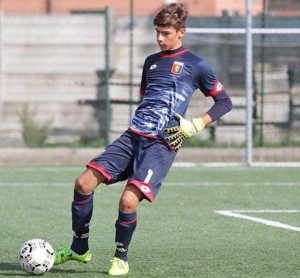 Alessandro Russo con la maglia del GENOA FC