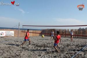 Footvolley Csen, Campanella e Platania in azione