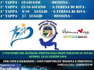 Locandina Campionato Provinciale Footvolley