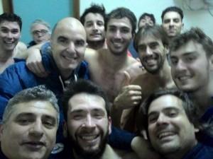 Selfie celebrativo della vittoria ottenuta a Trapani