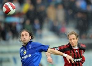 Vittorio Tosto con la maglia dell'Empoli