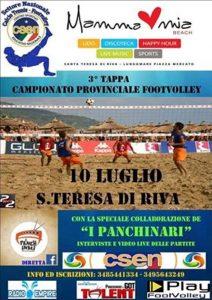 Locandina Terza Tappa Campionato Provinciale Footvolley Csen