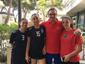 Tommaso D'Arrigo insieme a Federica Rifici, Alessia Miduri e Adriana Nasisi