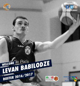 Levano Babilodze è un nuovo giocatore del Patti