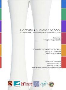 La locandina dell'Horcynus Summer School