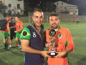 Alessandro Cacciotto premia i vincitori