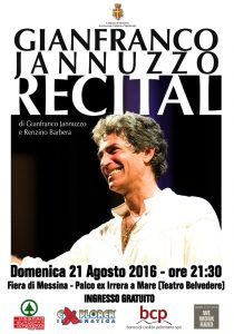 La locandina di Recital, con Gianfranco Jannuzzo