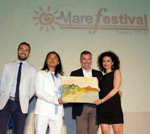 Liu Yi, Massimiliano Cavaleri e Daniela Ursino al Mare Fastival Salina