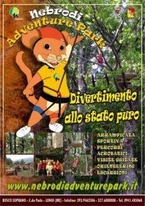 Il manifesto del Nebrodi Adventure Park di Longi