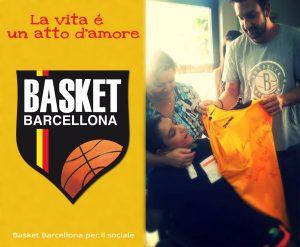 Sereni dona la maglia autografata dal Basket Barcellona