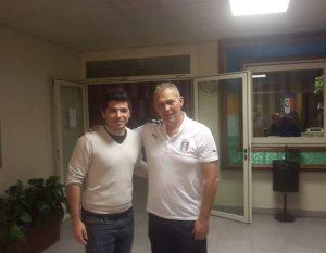 Giovanni Costantino con l'ex difensore giallorosso Luigi Corino