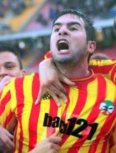 Cristiano Lucarelli ai tempi del Lecce