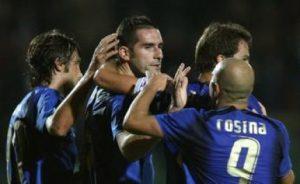 Lucarelli con l'Italia