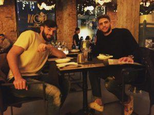 Nicola Ciccone con Domenico Berardi