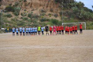 L'inizio della partita Giovanissimi all'Aranciarella