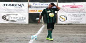 Fabio La Rocca (Camaro), autore del primo gol a Giardini