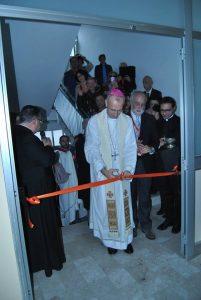 Un momento dell'inaugurazione della Casa della Misericordia