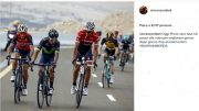nibali post su instagram