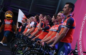 Bahrain Merida alla presentazione del Giro d'Italia