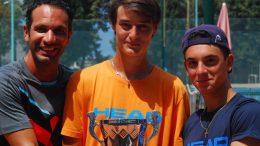 Ricciardo con i tennisti Andaloro e Bombara