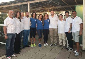 dirigenti, staff ed atlete dell'Asd Sant'Agata Volley
