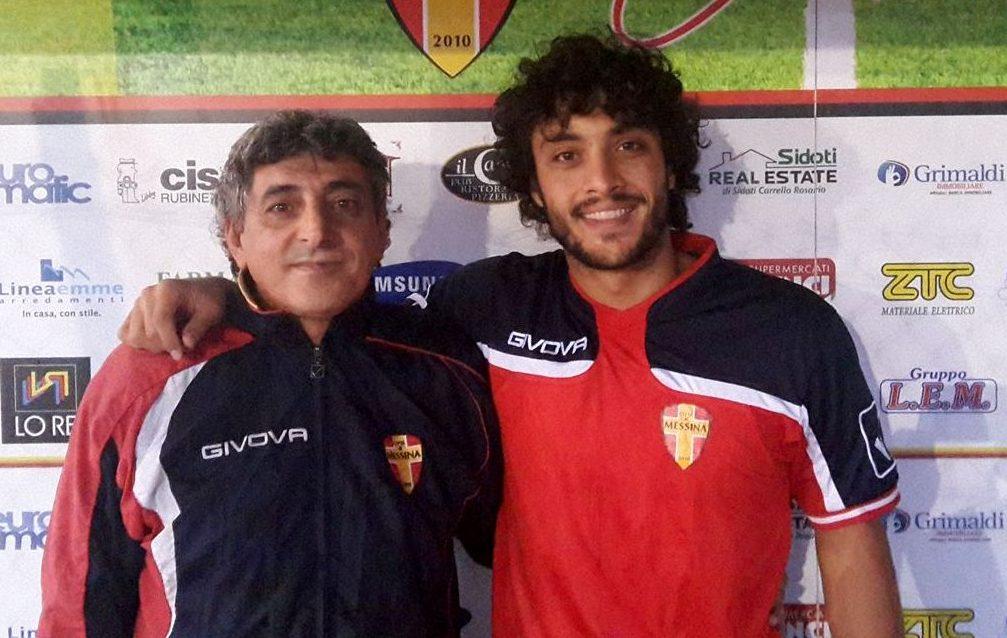 Sebastiano Paterniti posa col team manager Gaetano La Versa