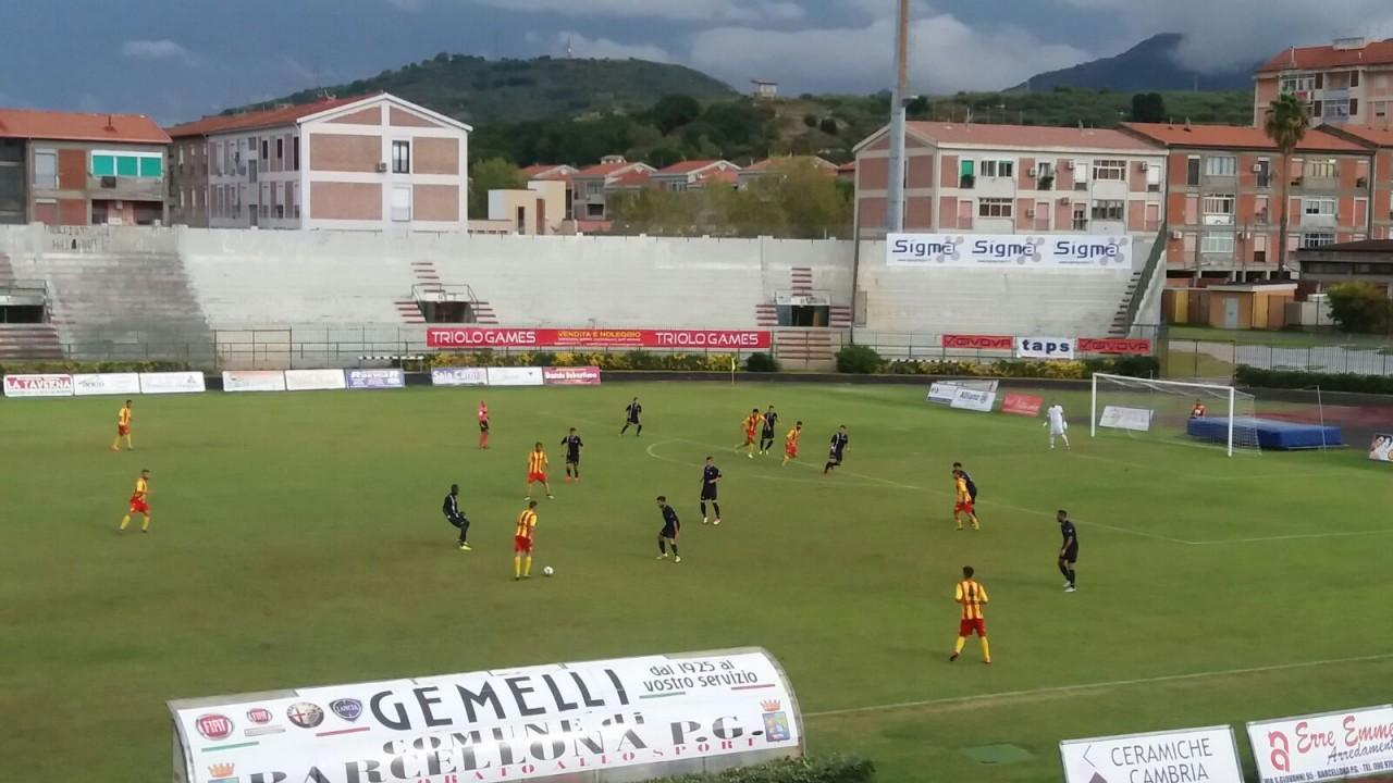 Una fase del match di Coppa Italia tra Igea Virtus e Vibonese