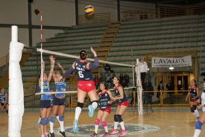 Valeria Foraci (La Saracena) prepara l'attacco