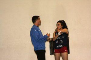 Giuliana Cannestracci con il coach Mauro Silvestre